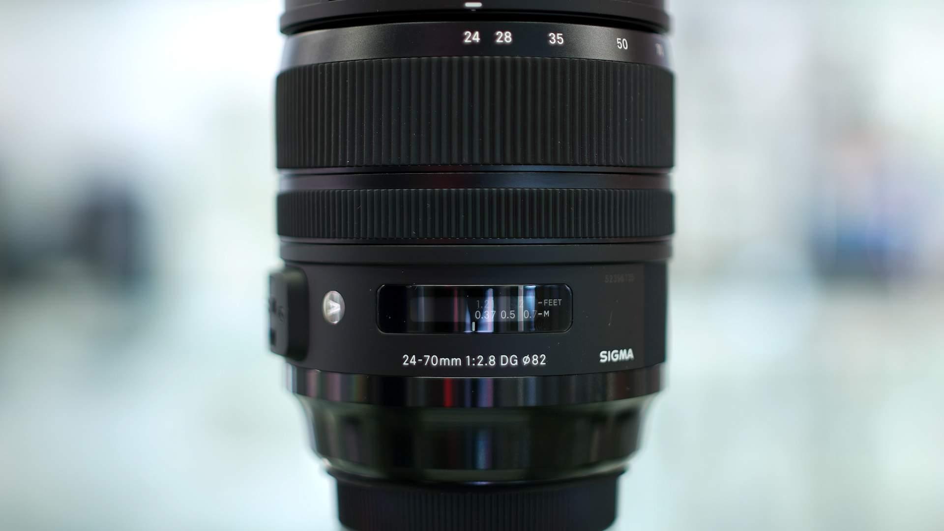 Dettaglio Ghiere Sigma 24-70mm f2.8 Art