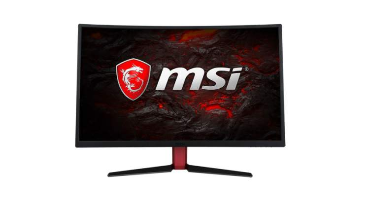 Vista frontale MSI G27C Monitor Curvo Gaming 144Hz