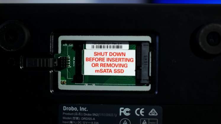 Drobo Accelerator Bay SSD NAS Drobo 5N2 - Recensione