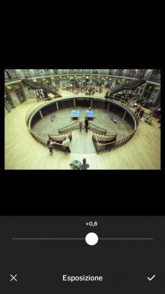Strumento esposizione VSCO tutorial modificare foto smartphone