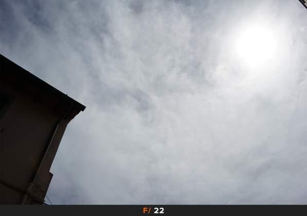 Test Flares Sole f22 Samyang AF 35mm f2.8 FE
