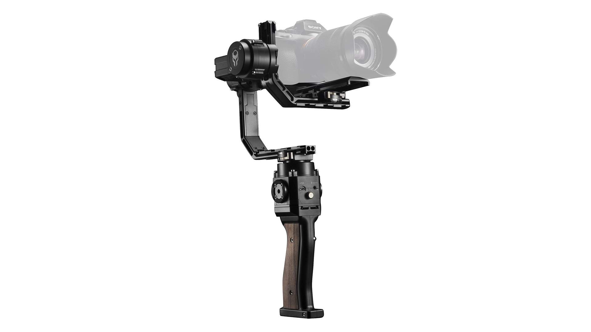 Vista frontale Stabilizzatore Gimbal Tilta gravity G1