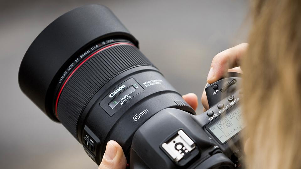 Vista generale Canon 85mm f1.4 L IS USM