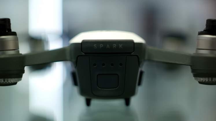 Vista posteriore Drone DJI Spark