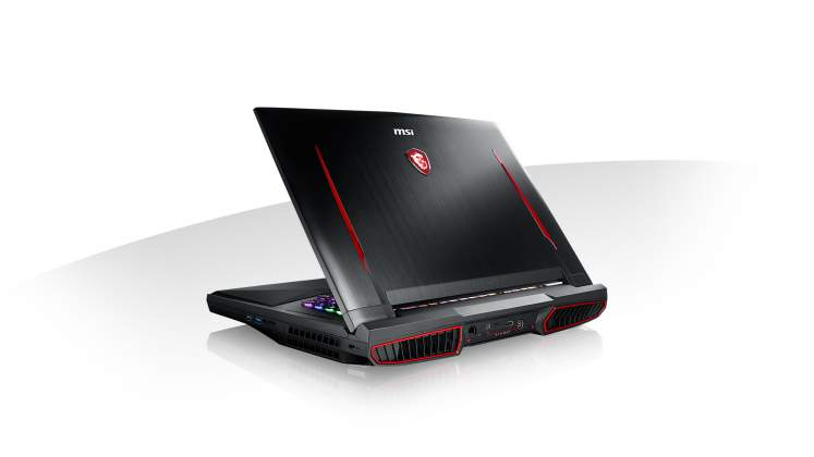Vista posteriore MSI GT75VR notebook gaming