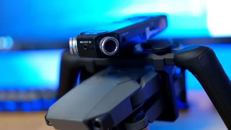 Dettaglio Microfono Polarpro Katana per DJI Mavic Pro
