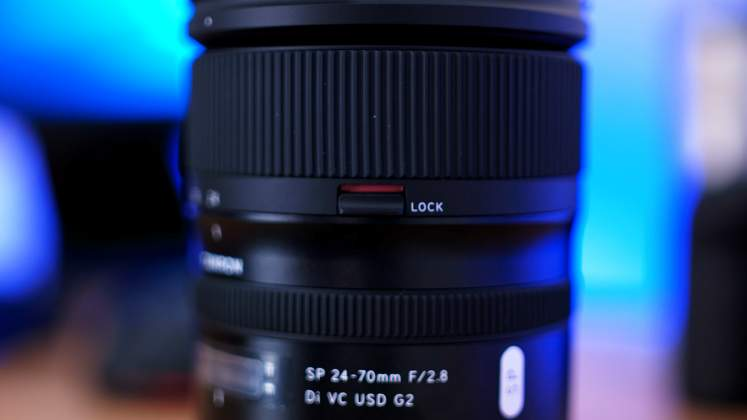 Dettaglio swicth lock zoom Tamron 24-70mm f2.8 G2