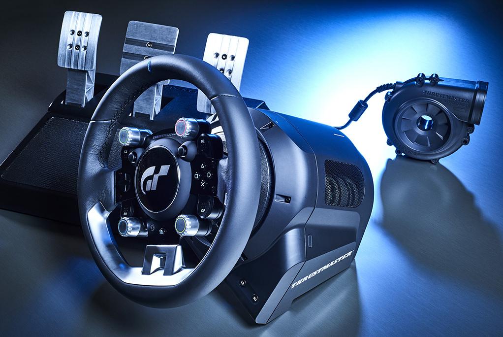 Kit pedaliera alimentatore Volante gaming Thrustmaster Gran Turismo Sport fronte