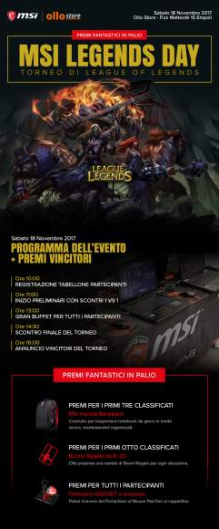 Programma evento torneo MSI League of Legends