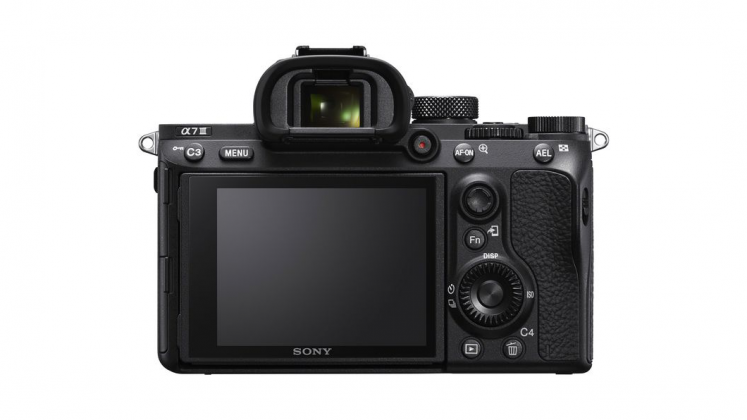 Sony Alpha 7 III Vista posteriore Mirrorless full frame A7 III