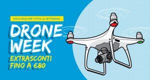 Settimana del drone, fino a 80€ di sconto online e in negozio!