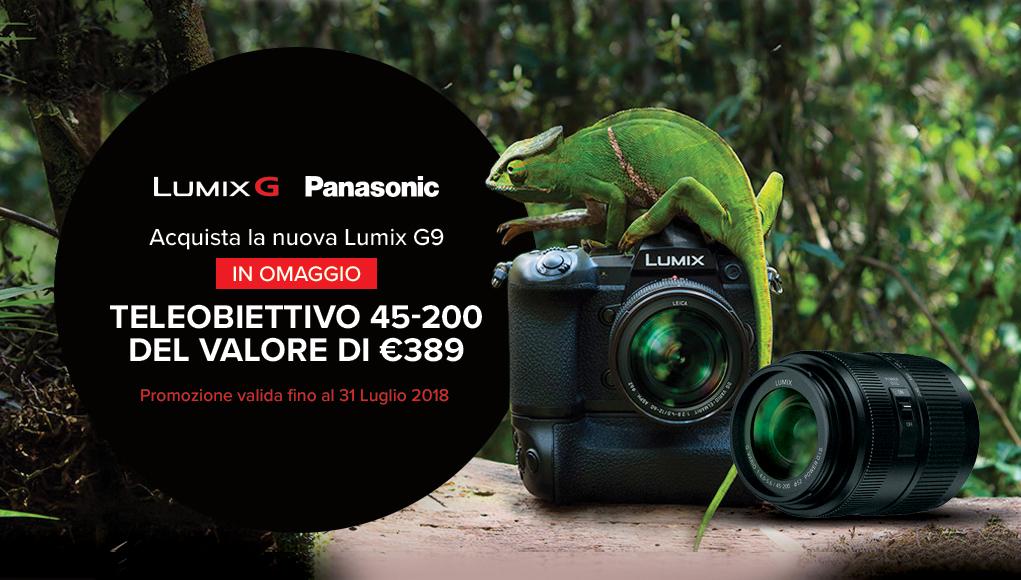 Acquista Panasonic Lumix G9 e riceverai un obiettivo in omaggio