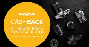 Olympus: fino a 200€ di cashback su mirrorless e ottiche