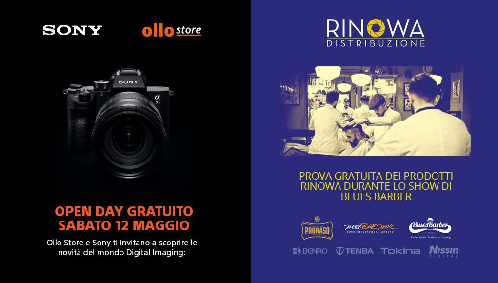 Sabato 12 maggio ospiteremo Sony e Rinowa con i propri prodotti!