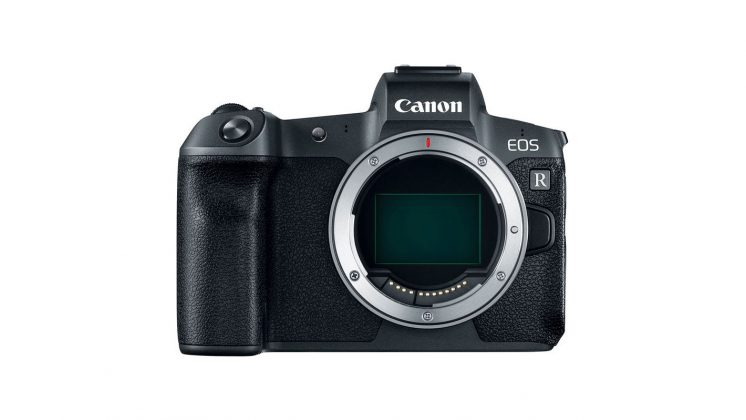 Parte frontale Canon EOS R Mirrorless sensore Full Frame