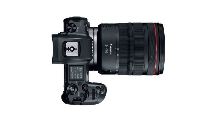 Parte superiore Canon EOS R Mirrorless Full Frame