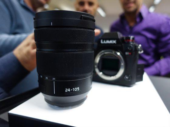 Dettaglio obbiettivo 24-105mm mirrorless full frame Panasonic S1 1