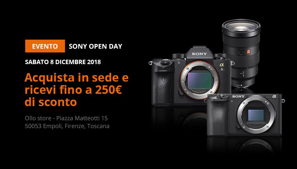Sony Open Day - acquista in sede e ricevi fino a 250€ di sconto