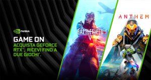 Acquista una Geforce RTX e ricevi fino a due giochi omaggio