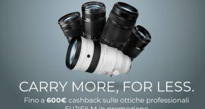 Cashback Fuji - fino a 600€ di rimborso sugli obiettivi mirrorless