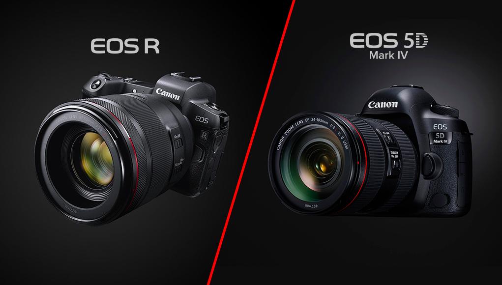 Canon EOS R vs 5D Mark IV, ecco tutte le principali differenze