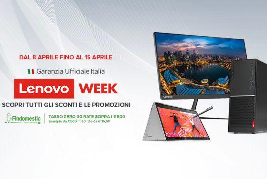 Lenovo Week, tanti prodotti in offerta acquistabili a tasso zero